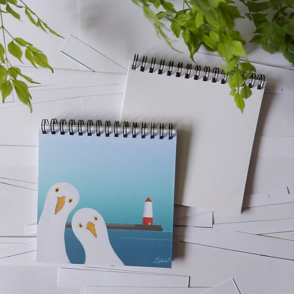 A seagulls welcome notepad