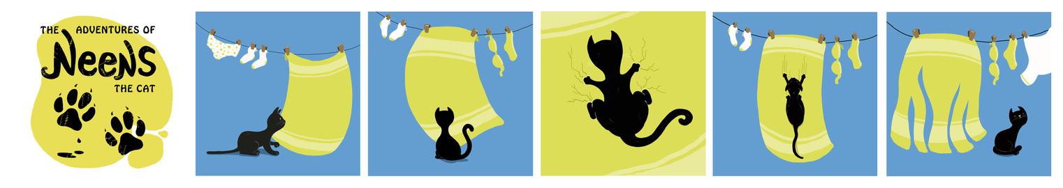 Neens the cat cartoon strip