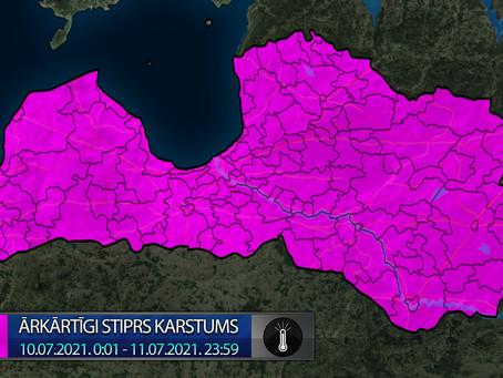 Brīdinājums 10.07.2021. 0:00 - 11.07.2021. 0:00