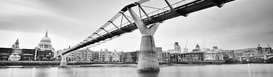 Millennium Bridge on Thames River