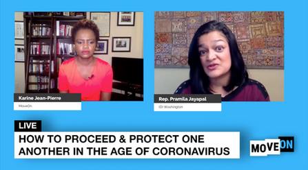 Karine Jean-Pierre interviews Rep. Pramila Jayapal LIVE