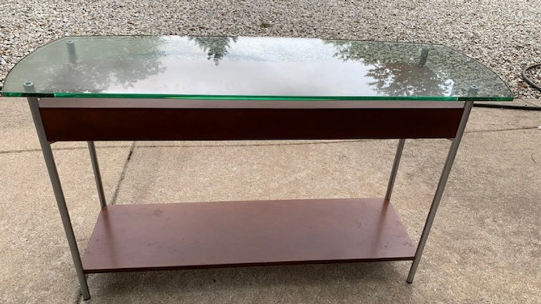 Console Glass and wood Table