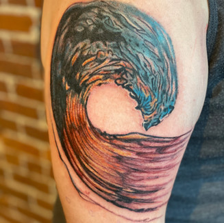 wave tattoo