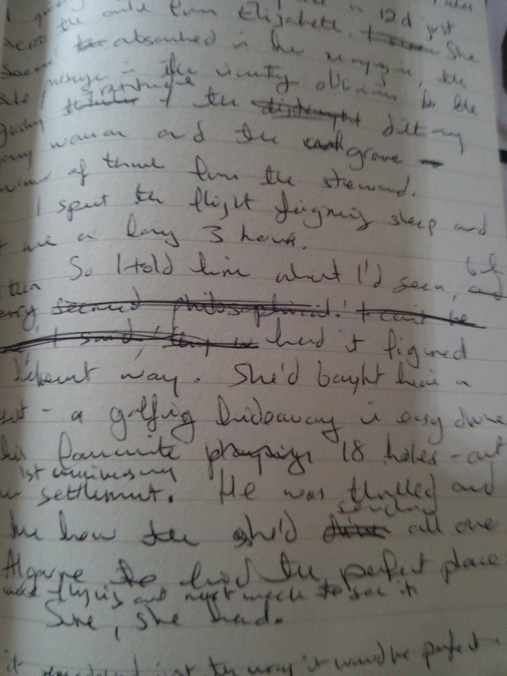 Original handwritten manuscript for Sleeping Dogs