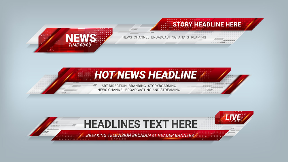 TV news graphics