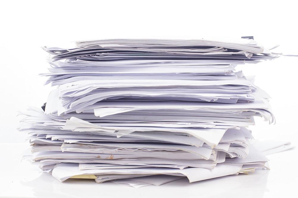 Pile of Manuscripts on a desk