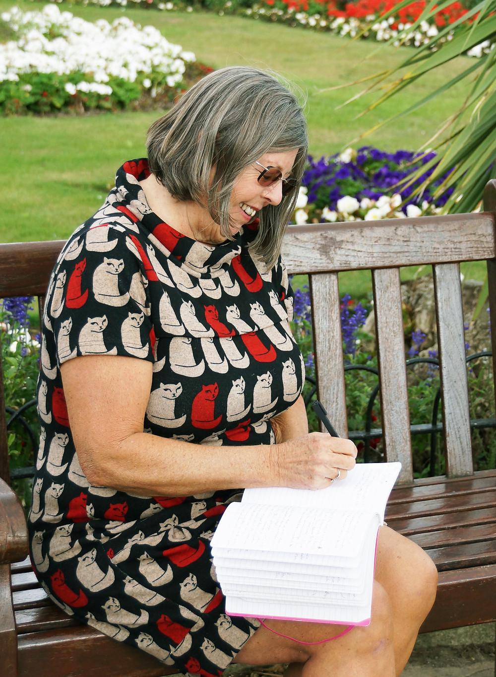 Author Wendy Turbin hones a manuscript