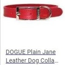 Dogue Red leather collar