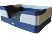 K9 Homes Dry Comfort Pet Basket 57x40xH25cm - Grey/Blue