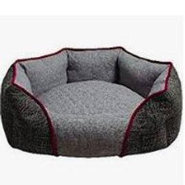 ZEEZ OVAL CUDDLER BED Grey Small 50x40x20cm