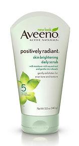 Aveeno's Positively Radiant skin brightening daily scrub