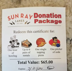 Sunray Lanes Bowling Package 2