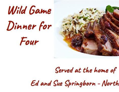 Wild Game Dinner for 4