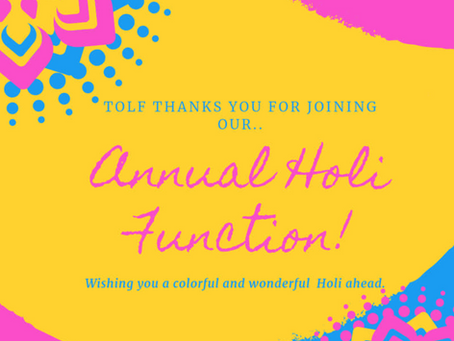 Happy Holi and Online Auction
