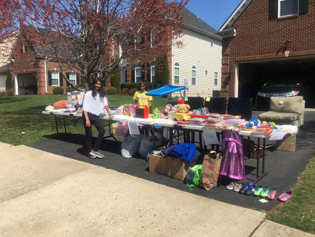 Young Changemakers Hold a Garage Sale and Donate Proceeds to TOLF!