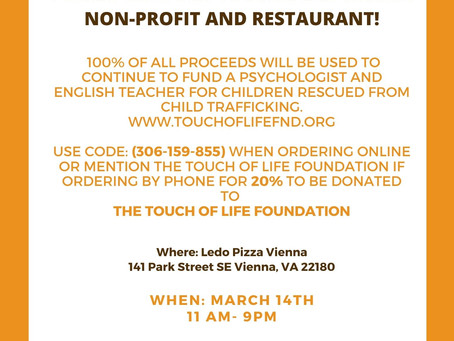 Help support your local Vienna nonprofit while raising funds for victims of child trafficking