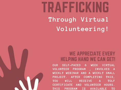 Join us for our Self-Paced 3rd Virtual Volunteer Program