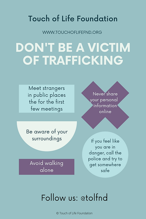 Tips to avoid being trafficked