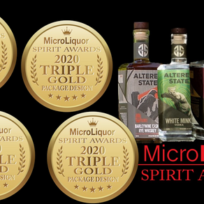 Turn It Up Wins Four Triple Gold Package Design Medals with Altered State Distillery