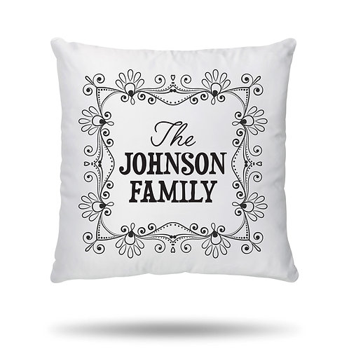 Personalised Cushion Cover Family Name House Warming Gift printed with any name