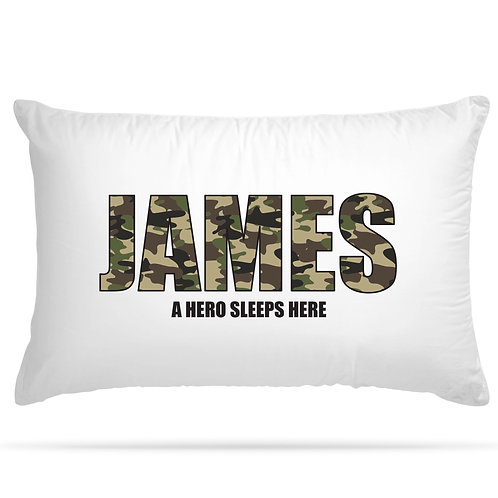 Personalised Pillowcase Army Style with Custom Name