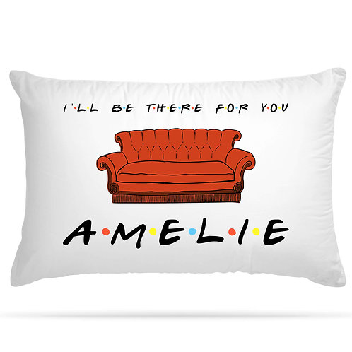 PERSONALISED Cushion Cover Pillow Case Friends TV Series Inspired Name Gift