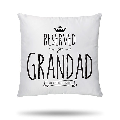 Personalised Cushion Cover Reserved for House Warming Gift printed with any name