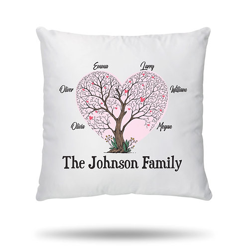 PERSONALISED Cushion Cover Family Tree