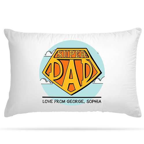 PERSONALISED Pillow Cover for Best Dad Ever Birthday Father's Day