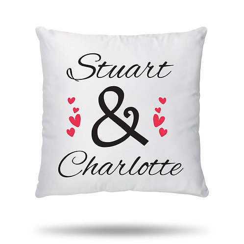 Personalised Cushion Cover Couple Wedding Anniversary Valentines Day printed wit