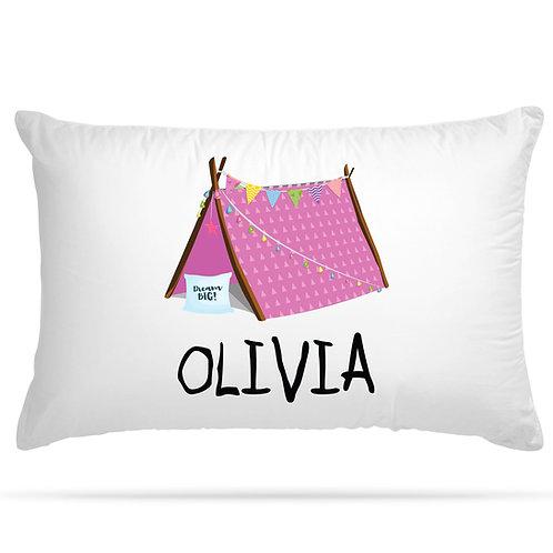 Personalised Pillowcase Kids Slumber Party Tent SleepoverTeepee with Custom Name