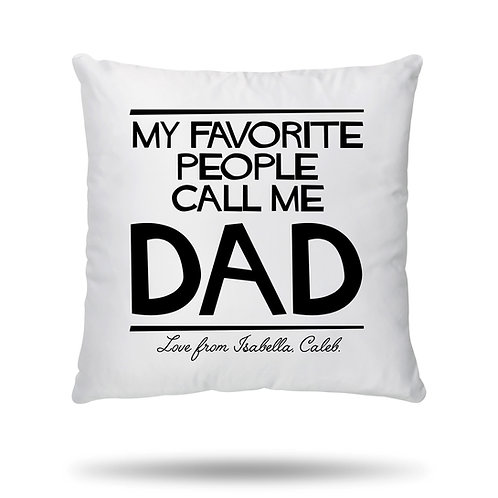 PERSONALISED Cushion Cover for Best Dad Ever Super Dad Birthday Father's Day