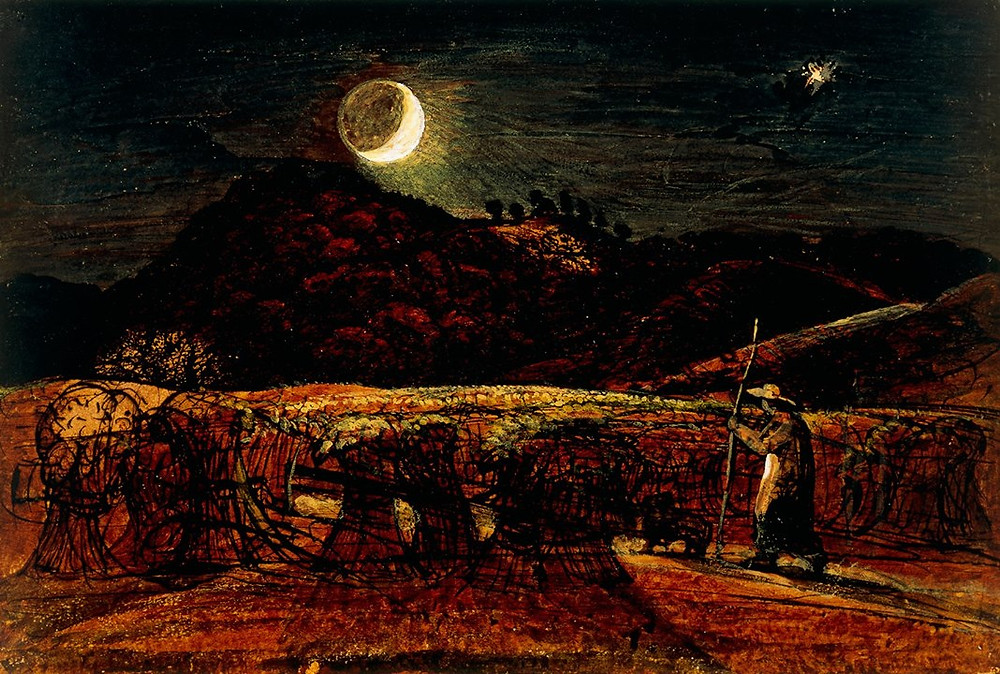 Samuel Palmer, A Cornfield by Moonlight with the Evening Star
