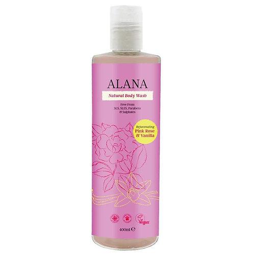 Alana Pink Rose & Vanilla Natural Body Wash - 400ml