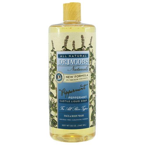 Dr Jacobs Naturals Castile Liquid Soap Peppermint - 946ml