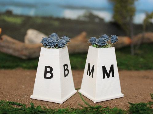 Berkshire Dressage Letter Marker Blocks - Classic