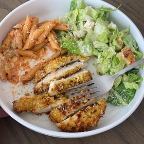 (Slightly) Healthier Chicken Parm Cutlets