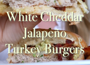 White Cheddar Jalapeño Turkey Burgers