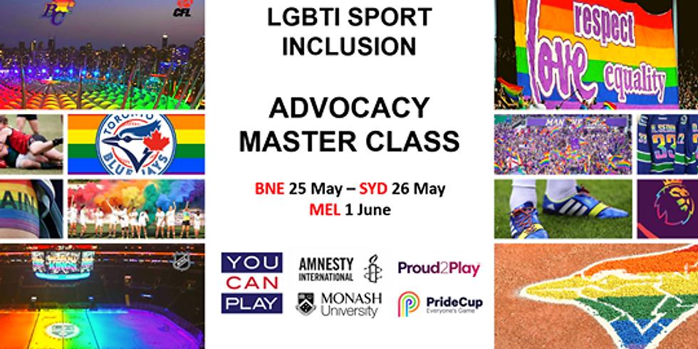 Master Class | LGBTI Sport Advocacy