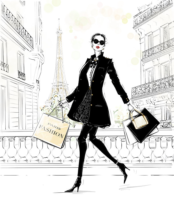 shopping on the champs elysees paris france
