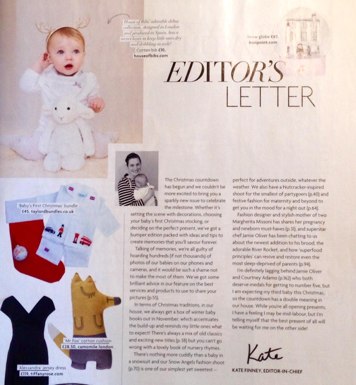 Editors Letter, Baby London Magazine