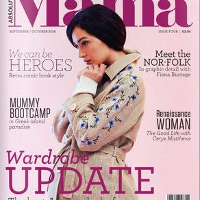 Absolutely Mama Magazine features House of Bibs Baby Dribble Bibs