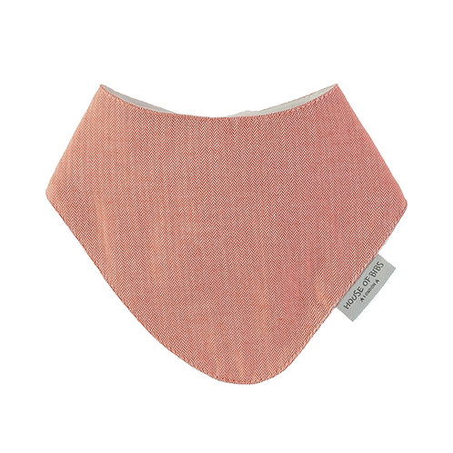 Red Cotton Tweed Bandana Bib