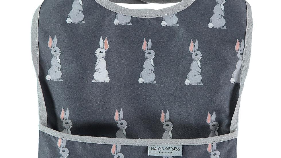 Bunnies on Grey Toddler Bib
