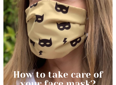 How to take care of your face mask?