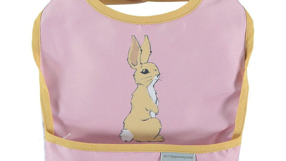 Bunny in Dusty Rose Toddler Bib