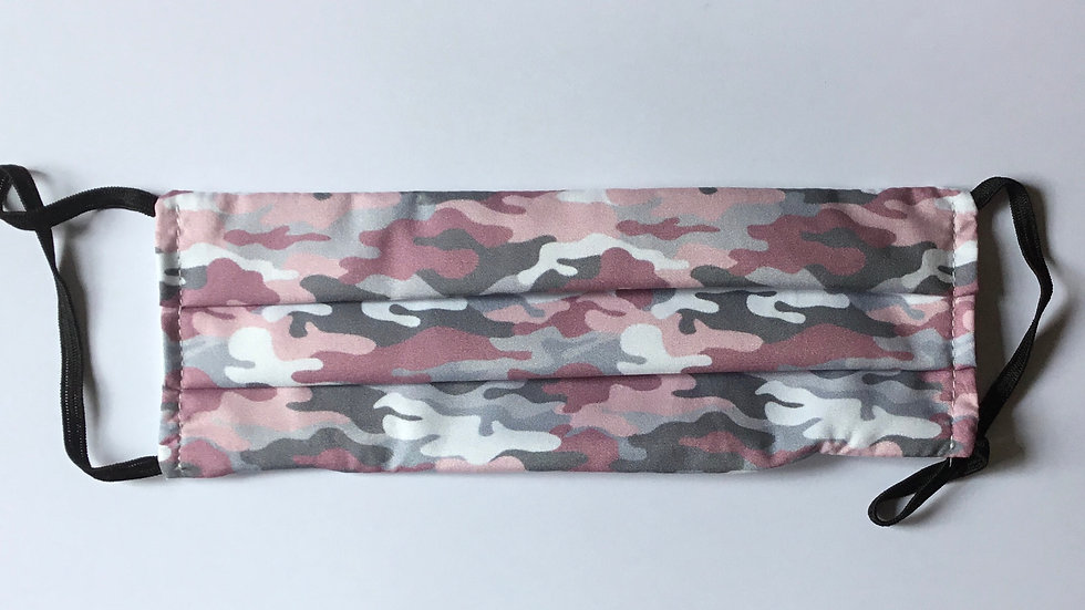 Camouflage Pink Face Mask