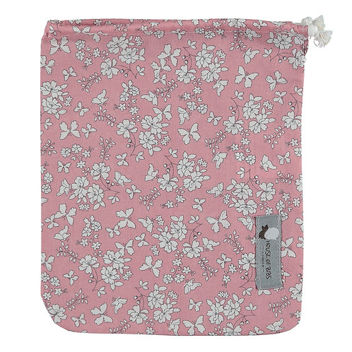 Blush Pink Flora Cloth Bag