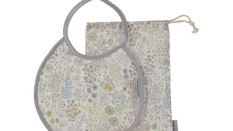 Antique Flora Round Bib Gift Set (2 pieces)