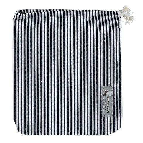 Striped Navy Blue Cloth Bag
